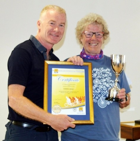 Doreen Lindsey, CTC Volunteer of the Year for Wales 2014